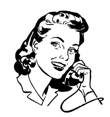 Retro Pictures – People on Telephone