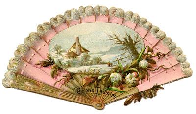 Vintage Image – Ladies Pink Fan