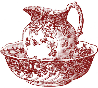 Antique Clip Art Classic Pitcher And Bowl The Graphics
