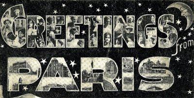 Vintage Clip Art – Greetings from Paris