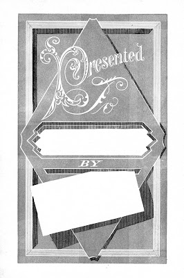 Vintage Label Images - Presented To - Gift Tags Black White