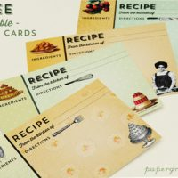 Printable Vintage Recipe Cards - The Graphics Fairy