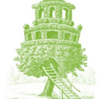 Royalty Free Images - Fab Vintage Treehouse - The Graphics Fairy