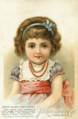 Vintage Graphic - Cute little Girl - Soap Ad - The