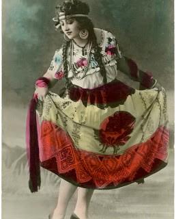 Old Photo – Dancer Image – Fiesta Costume