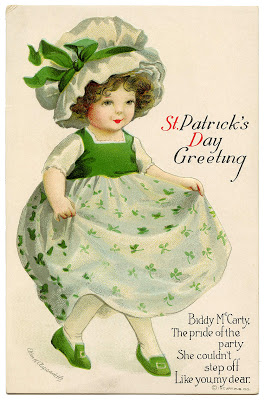 Clip Art of St. Patrick's Day Girl