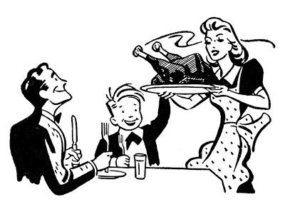 Retro Image – Family Thanksgiving