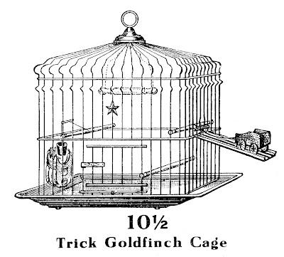 Vintage Clip Art – Trick Bird Cage