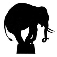 Vector Image Downloads - Circus Elephant Silhouette - Graphics Fairy