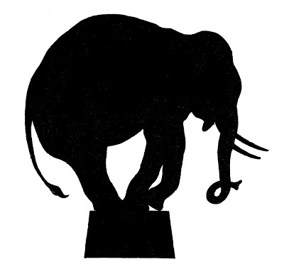 Vector Image Downloads – Circus Elephant Silhouette