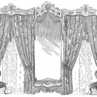Vintage Image - Fancy Drapes and Chairs - Graphics Fairy