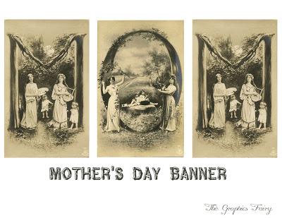 Vintage Printable - Mother's Day Alphabet Card Banner