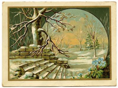 Vintage Graphic – Winter Landscape