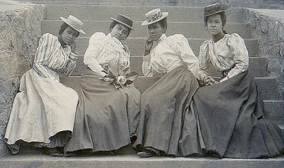Old Fashioned Photo 4 Ladies With Hats The Graphics Fairy