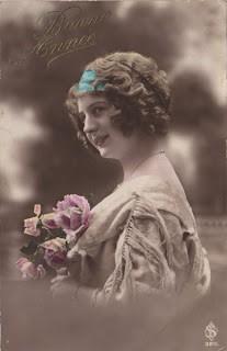 Vintage New Year's Postcard – France