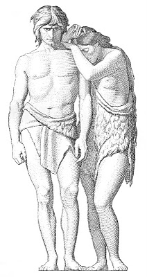 Vintage Religious Clip Art – Adam and Eve Engraving