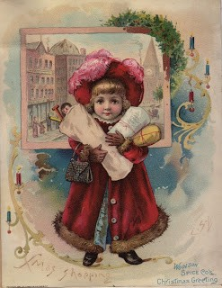 Christmas Shopping – Antique Advertising Card