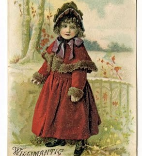 Free Vintage Clip Art – Victorian Girl and Boy