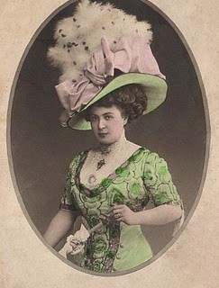 Victorian Lady with Fabulous Hat!