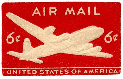 Vintage Airmail Images -Airplane