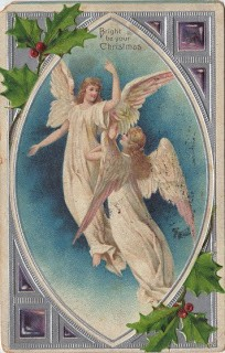 1907 Christmas Postcard – Angels