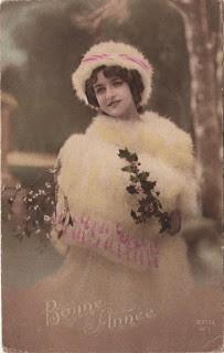 Vintage French Postcard – Snow Girl