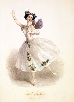Antique Clip Art – Gorgeous Ballerina Fairy