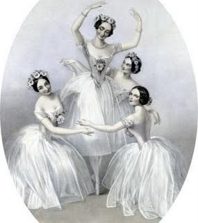 Free Antique Clip Art – Beautiful Ballerinas