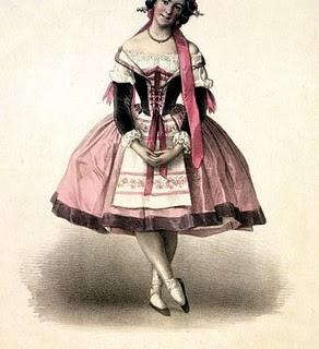Antique Clip Art – Lovely Pink Ballerina