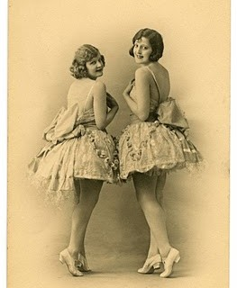 Old Photo Postcard – Gorgeous Ballerina Dancers