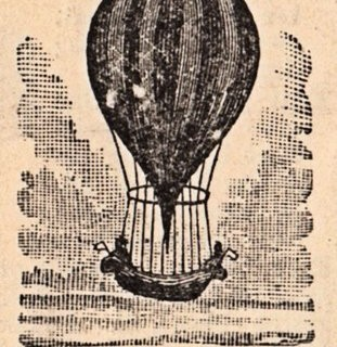 Old Fashioned Graphic – Hot Air Balloon