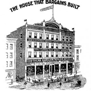 Vintage Clip Art – Old Department Store – Bargain House
