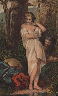 Trade Card – Bathing Ladies