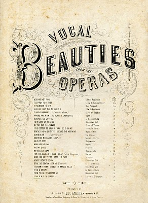 Gorgeous Vintage Ephemera – Opera Sheet Music