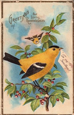 Peachy Free Vintage Clip Art Pretty Yellow Bird The Graphics Personalised Birthday Cards Sponlily Jamesorg