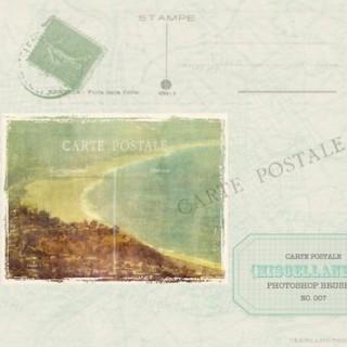 Vintage Postcard Photoshop Brush Download – From LeBlahg