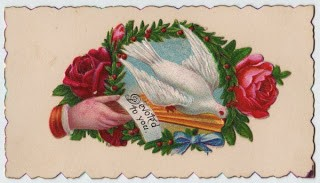 Victorian Calling Card – Dove