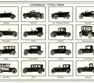 Vintage Father's Day Clip Art – Old Automobiles