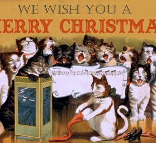 Free Vintage Clip Art – Christmas Cats & Other Assorted Goodies