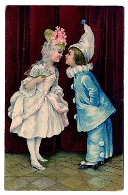 Vintage Valentine's Day Clip Art – Pretty Children in Costumes