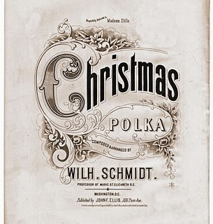 Free Vintage Clip Art – Christmas Sheet Music