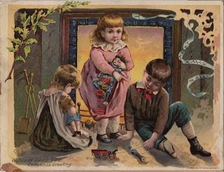 Victorian Christmas Trade Card