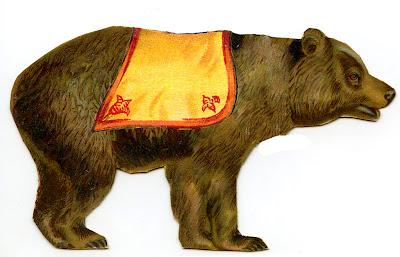 Vintage Circus Clip Art – Bear