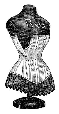 Victorian Graphic – Dress Form with Corset
