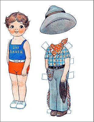 Vintage Kids Printable – Cowboy Paperdoll