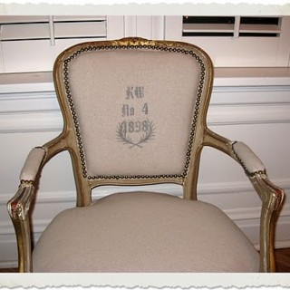 DIY – Reader Project – French Monogramed Chair