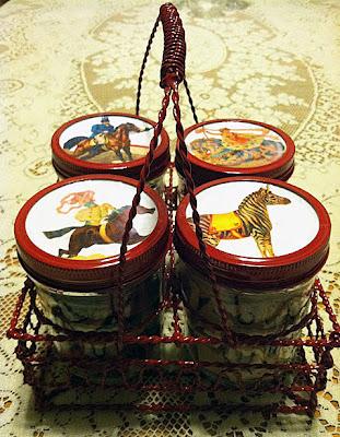 Brag Monday – Circus Mason Jars & French Recipe Box