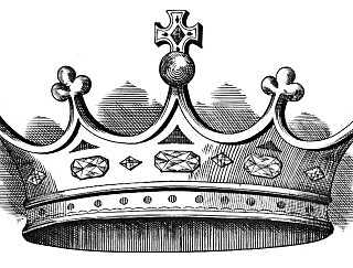 Vintage Download – Amazing Crown – Black and White