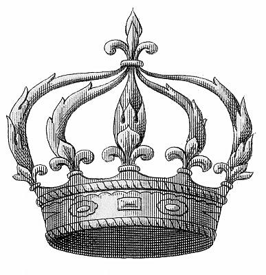 Vintage Image Download – Fleurs de Lis Crown