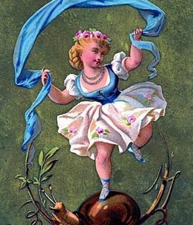 Vintage Public Domain Image – Little Dancing Girl